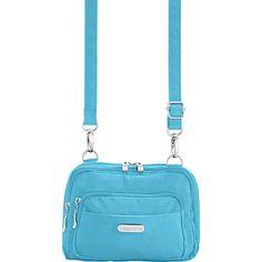 #FabricHandbags, #Handbags - baggallini Triple Zip Bagg Dolphin - baggallini Fabric Handbags