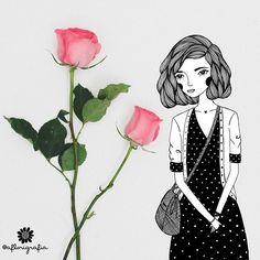 Bom dia com rosas
