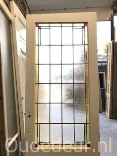 nr. GL271 jaren dertig glas in lood deur