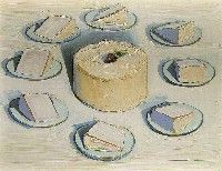 Wayne Thiebaud, Around the Cake, 1962