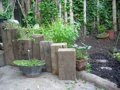 Balcony Garden Dreaming: Pulled by desire: The old Railway Sleepers found us!