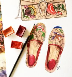 Gucci fashion illustration by @doll_memories