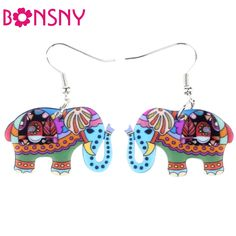 Drop Elephant Earrings Acrylic Dangle s Spring Summer Girls Woman Accessories Cute Animal Design $4.39 => Save up to 60% and Free Shipping => Order Now! #fashion #woman #shop #diy www.ajewelry.net/...