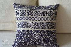 Beautiful Nordic Ikea Style Batik look pattern hand made cushion cover throw pillow case