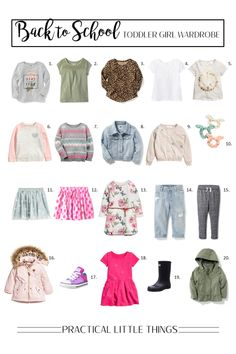 Toddler Girl Capsule Wardrobe for Fall 2017: Featuring Playful Patterns in Back to School Outfits for Kids