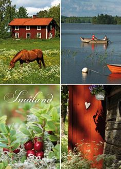 Småland, Sweden Sweden Time, Wonderful Places, Beautiful Places, Norway Sweden Finland, Semester, About Sweden, Red Houses, House In Nature, Lappland