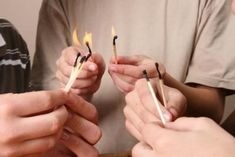 You can use match sticks to teach teens a lesson about gossip.