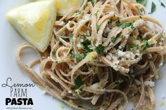 Dinner Tonight: Lemon Parm Pasta   Mix and Match Mama