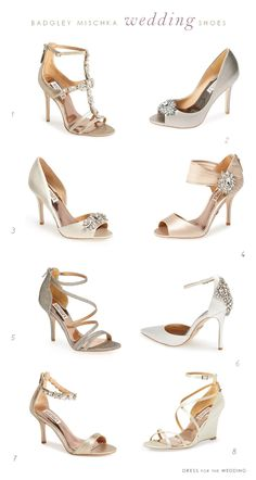 Some of the Best Wedding Shoes by Badgley Mischka. Bridal shoes get high style from these designer wedding shoes for special occasions and weddings.