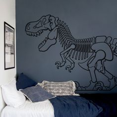 Childrens room wall decor with one huge T-Rex wall decal that can inspire you 📸