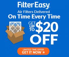Filter Easy is an air filter service that's smart and simple. You sign up once, then they deliver your specified filters to your door… on your schedule. Filter Easy delivers your sir filters at a cost that's less then the store's!  And now you can receive up to $20 OFF Your First Purchase of Air Filters and FREE Home Delivery from Filter Easy.  Love it!  http://ifreesamples.com/20-first-months-order/