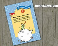 LITTLE PRINCE birthday party invitation