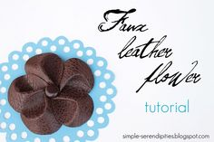 leather flower tutorial