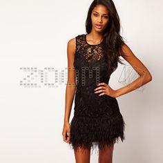 eBay   Lipsy V I P @ ASOS wax lace feather dress UK6-12 New!