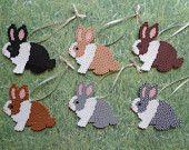 Bunny Rabbit Perler Bead Decoration Ornaments / by 4BunniesBeading