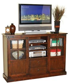 For Sunny Designs Santa Fe Bar Height Tv Console And Other Home Entertainment Centers At Hatch Furniture In Yankton South Dakota