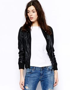 Barneys Sonia Hooded Leather Bomber Jacket