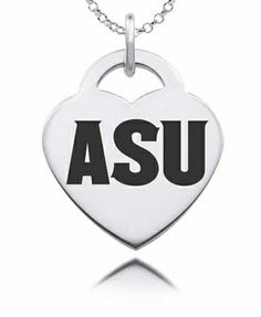 Show your spirit in style! Our Arizona State Sun Devils heart charm is made from solid sterling silver. State of the art laser technology helps us duplicate your favorite logo in exact detail. $39.