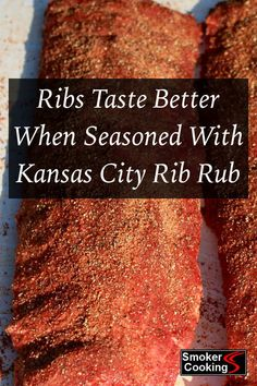 Smoked pork ribs are always great, but when seasoned with a Kansas City Style rib rub, they are truly spectacular! Learn the secrets of making a great tasting KC Style rub for your spare ribs and baby back slabs. Bbq Ribs, Rub For Pork Ribs, Smoked Pork Ribs, Smoked Ribs Dry Rub, Marinade For Pork Ribs, Pork Chop Rub, Pulled Pork Rub, Pork Back Ribs, Brisket Rub