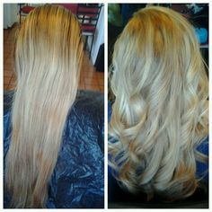 Blonde.. Before and After
