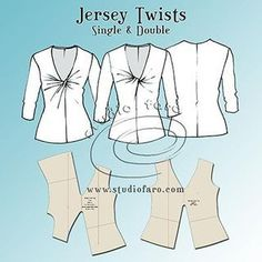 Sewing Patterns Pattern Insights - Jersey Twist Patterns - can be used in lots of ways, dresses, skirts, tops etc - This is the first of a new series of pattern making posts called Sewing Hacks, Sewing Tutorials, Sewing Crafts, Sewing Projects, Sewing Tips, Techniques Couture, Sewing Techniques, Dress Sewing Patterns, Sewing Patterns Free