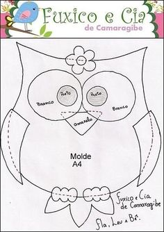 animals - Jewelry World Owl Patterns, Applique Patterns, Quilt Patterns, Sewing Patterns, Baby Sewing Projects, Sewing Crafts, Owl Quilt Pattern, Felt Owl Pattern, Owl Sewing
