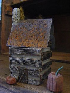 Handmade Primitive Log Cabin