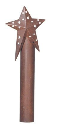 3D Country Star Candle Lamp Sleeve 8.75 inch