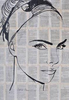 "Saatchi Art Artist Martina Niederhauser-Landtwing; Drawing, ""your eyes"" #art"
