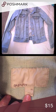 Light Wash Denim Jacket! Super comfortable and great to transition into fall! Old Navy Jackets & Coats Jean Jackets