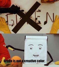 Green is not a creative color.