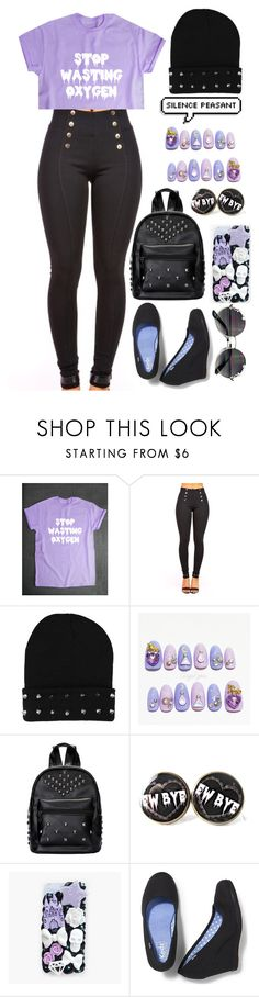 """""""School: Pastel Goth"""" by cherry-demon ❤ liked on Polyvore featuring cutekawaii and Keds"""