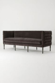 greige: interior design ideas and inspiration for the transitional home : Tufted sofa love...