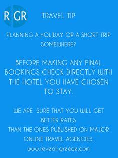 Travel Tips from #RevealGreece... More www.reveal-greece.com