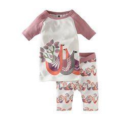 Tea Collection's Bedtime Birds pajamas ($29) come in sizes for girls 6 months to 10 years old. Made of close-fitting combed cotton, the pajamas have an extralong top designed to stay put over sleeping, squirming bellies.