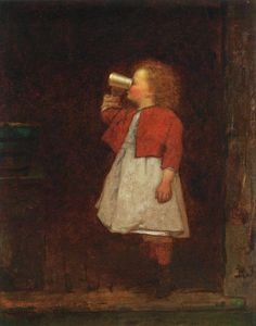 Eastman Johnson Little Girl with Red Jacket Drinking from Mug hand painted oil painting reproduction on canvas by artist Canvas Art, Canvas Prints, Art Prints, Portrait Images, Happy Paintings, American Artists, Art Images, Little Girls, Fine Art