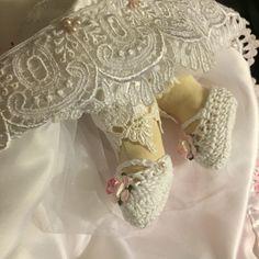 Divina Infantita Zapatitos tejidos en crochét