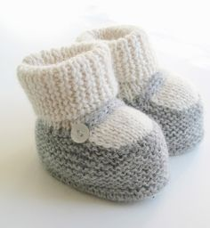 Mary Jane knit booties by Siobhan G.