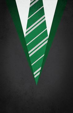 Minimal Slytherin Robe Poster Harry by designbynickmorrison