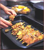 Sosaties, South African kebabs, are among the most popular dishes at an braai. Lamb sosaties are the national favorite, but beef, pork and chicken are Lamb Recipes, Meat Recipes, Wine Recipes, Recipies, South African Dishes, South African Recipes, Apricot Recipes, Dried Apricots, Food Themes