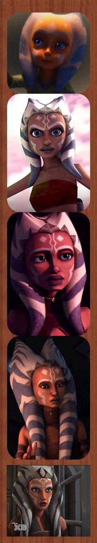 Ahsoka Tano Clone wars to Rebels