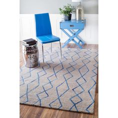 nuLOOM Handmade Geometric Moroccan Trellis Wool Grey Rug (8' x 10') | Overstock.com $395.59 on 5/30/2016 Pile height 0.25-0.5, Wool