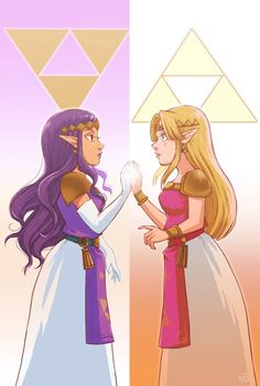 The Legend of Zelda: A Link Between Worlds - Hilda and Zelda
