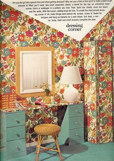 Seventeen Magazine, 1970's orange and avocado green was very popular.
