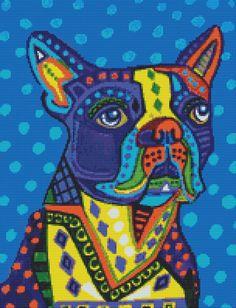 Modern Cross Stitch Kit By Heather Galler 'Boston by GeckoRouge, $77.34