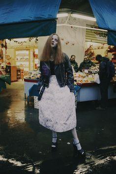 Photography by Fanny Latour-Lambert Madison Stubbington, Lace Skirt, Sequin Skirt, S Girls, Spring 2015, Fabric Design, Street Style, Photoshoot, Magazine