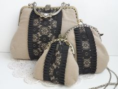 bolsos de boquilla hechos a mano de inspiración vintage                                                                                                                                                      Más