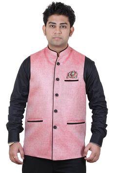 Modi Jacket, Men Online, Jackets Online, Vest, Jute, Cotton, Stuff To Buy, India, Pink