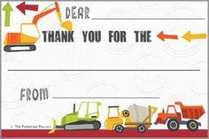 Construction Kids Thank You Postcards