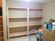2 x 4 Garage Shelves Built into Basement Storage! | Do It Yourself Home Projects from Ana White